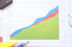 Рост в диаграмме зоны Стоковое Изображение