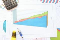 Рост в навальных диаграммах зоны Стоковая Фотография