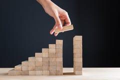 Рост в решении дела и пользы к концепции цели Стоковые Изображения
