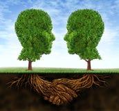 рост делового сотрудничества иллюстрация вектора