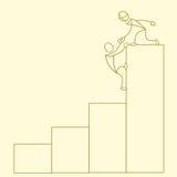 рост диаграммы дела схематичный иллюстрация штока