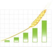 рост диаграммы иллюстрация вектора