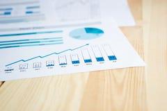 рост диаграмм диаграмм дела увеличил тарифы профитов Стоковые Изображения