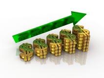 рост доллара Стоковое Изображение RF