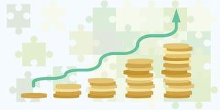 Рост денежной массы горизонтальный Стоковое Изображение