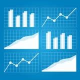 рост диаграмм диаграмм дела увеличил тарифы профитов Стоковые Фото