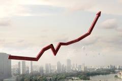 Рост и прогресс дела Мультимедиа стоковая фотография