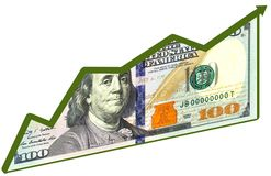 Рост доллара стоковые изображения
