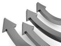 рост принципиальной схемы дела финансовохозяйственный иллюстрация штока