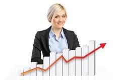 рост принципиальной схемы финансовохозяйственный Стоковые Изображения RF