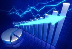 рост принципиальной схемы дела финансовохозяйственный Стоковое Изображение