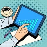Рост план-графика бизнесмена концепции дела иллюстрация штока