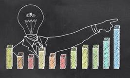 Рост с творческим бизнесменом Стоковая Фотография RF
