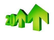 рост 2011 показывая год Стоковые Изображения