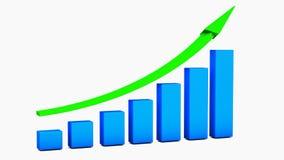 Рост chart Стоковое Изображение RF