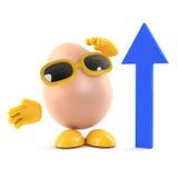 рост see яичка 3d Стоковое Изображение