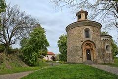 Ротонда St Martin в Visegrad в Праге Стоковые Изображения RF