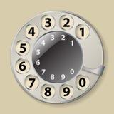 Роторная шкала телефона иллюстрация штока