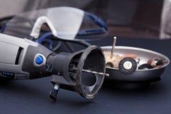 Роторные инструменты с изумлёнными взглядами вспомогательного оборудования и оборудования безопасности Стоковые Изображения