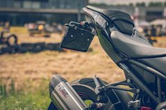 РОТТЕРДАМ, НИДЕРЛАНД - 2-ОЕ СЕНТЯБРЯ 2018: Мотоциклы shini стоковое фото