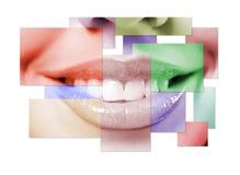 рот близкой девушки вверх Стоковые Изображения