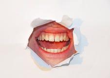 рот над белизной стоковая фотография rf