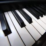 рояль клавиатуры крупного плана Стоковое Изображение RF