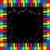 рояль клавиатуры рамки Стоковые Изображения