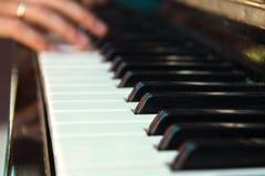 Рояль пользуется ключом крупный план Стоковое фото RF