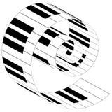 Рояль пользуется ключом музыкальные значки иллюстрация штока