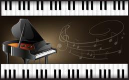 Рояль с клавиатурами и musicnotes бесплатная иллюстрация