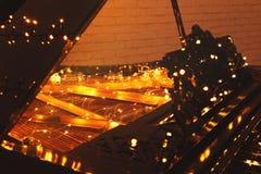 Рояль с светами рождества, стоковые изображения rf