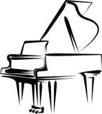 рояль иллюстрация штока