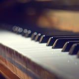 рояль клавиатуры одного фокуса ключевой селективный к Стоковое Изображение RF