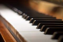 рояль клавиатуры одного фокуса ключевой селективный к Стоковое Изображение