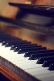 рояль клавиатуры одного фокуса ключевой селективный к Стоковые Фото