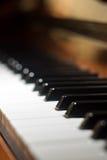 рояль клавиатуры одного фокуса ключевой селективный к Стоковые Фотографии RF