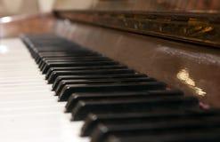 рояль клавиатуры одного фокуса ключевой селективный к Стоковое Фото
