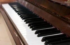 рояль клавиатуры одного фокуса ключевой селективный к Стоковые Изображения
