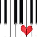 Рояль музыки влюбленности сердца иллюстрация вектора