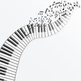 рояль нот предпосылки иллюстрация вектора