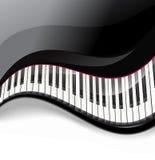 Рояль пользуется ключом волнистая предпосылка иллюстрация штока