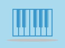 Рояль пользуется ключом значок, иллюстрация вектора, минимальный дизайн иллюстрация вектора