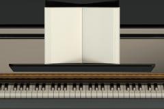 Рояль с тетрадью музыки иллюстрация штока