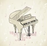 Рояль эскиза бесплатная иллюстрация