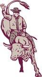 родео riding ковбоя быка Стоковые Фото