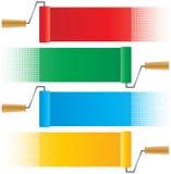 Ролики краски иллюстрация вектора