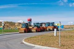 Ролики пара на месте строительства дорог Стоковое фото RF