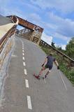 Ролик биатлона катания на лыжах Стоковые Фото