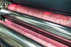 Ролик воды на машине печатного станка смещения Стоковое Изображение